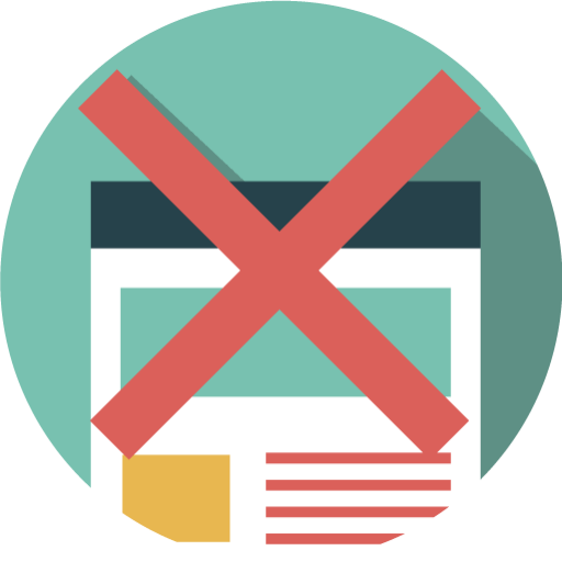 Ban, Page, Web, Removed, Banned, Black, Seo Icon Free Of Seo