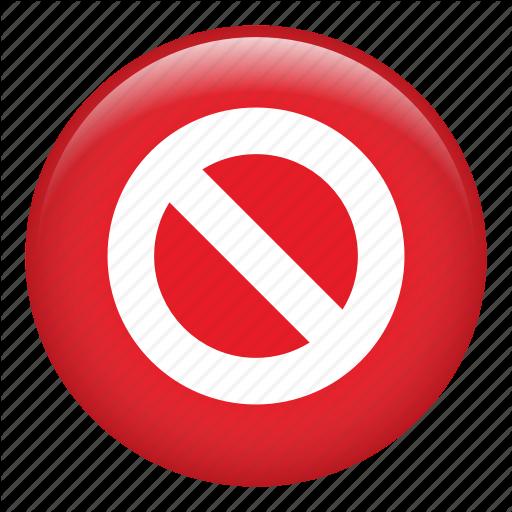 Ban Circle, Ban Traffic, Cancel, Diagonal, No Entry, No Parking