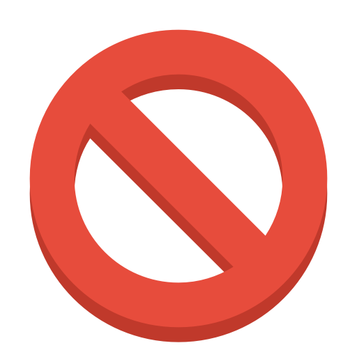 Sign, Ban Icon Free Of Small Flat Icons
