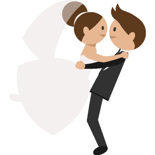 Wedding Couple Free Vector Icons Designed