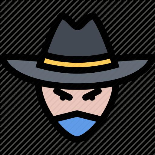 Bandit, Bandits, Cowboy, Cowboys, Wild West Icon