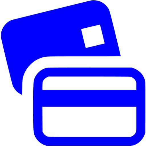 Blue Bank Cards Icon