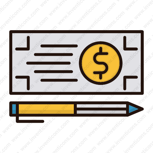Download Bank,check,payment,money Icon Inventicons