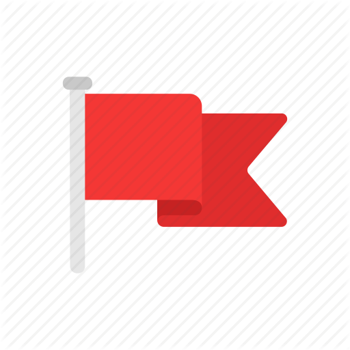 Banner, Flag, Notification, Red Flag Icon