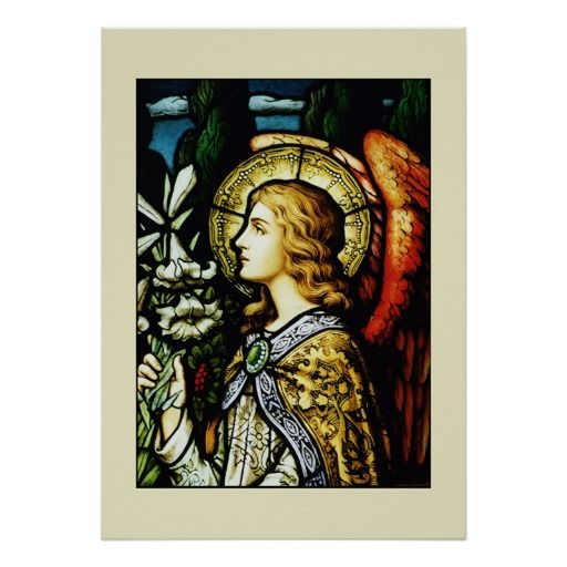 Angel With Lilies Poster Christian Posters Poster, Christian