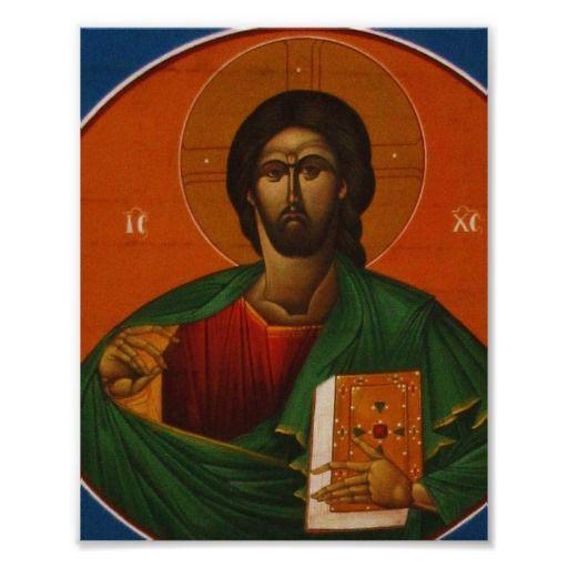 Jesus Christ Orthodox Christian Icon Painting Poster Jesus
