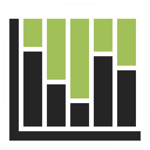 Stacked Bar Chart Icon Chart And Printable World