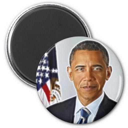 Fractal Art, Official Portrait Barack Obama Fridge Magnet On Popscreen