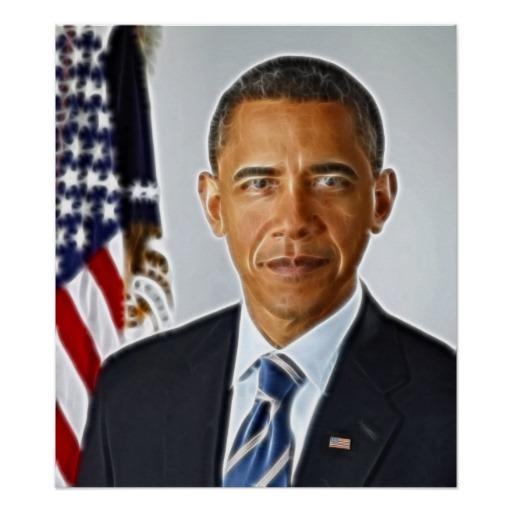 Fractal Art, Official Portrait Barack Obama Poster On Popscreen