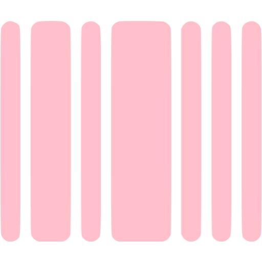 Pink Barcode Icon