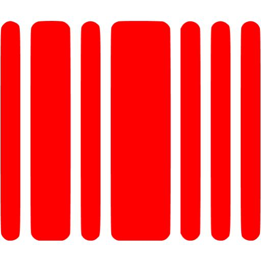 Red Barcode Icon