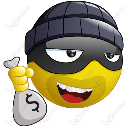 Burglar Smiley Smileys Smiley Emoji, Emoji Pictures, Emoji Faces