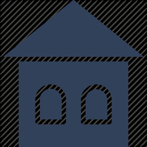 Barn, Building, Farm House, Silo Icon