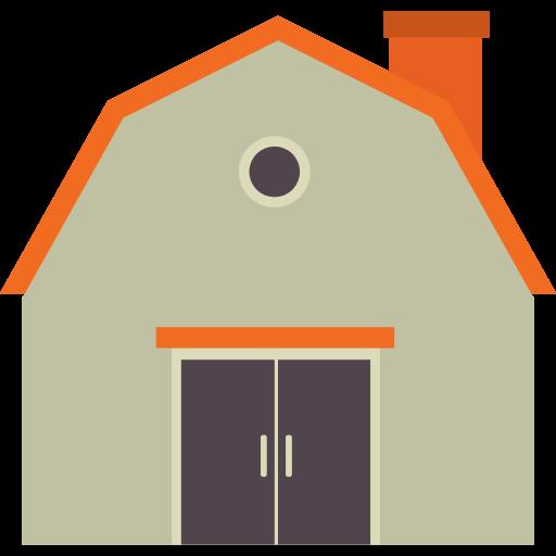Buildings, Farm, Real Estate, Gardening, Barn Icon