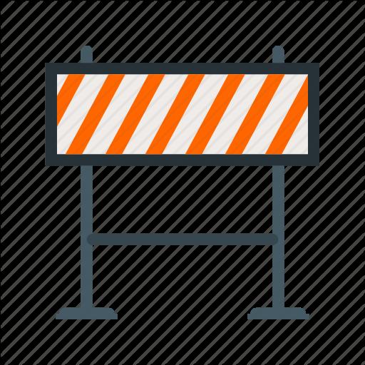 Barricade, Construction, Hazard, Road, Sign, Striped, Warning Icon