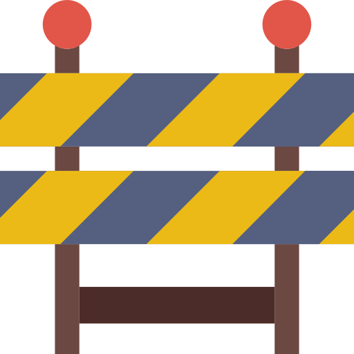 Barrier Caution Png Icon