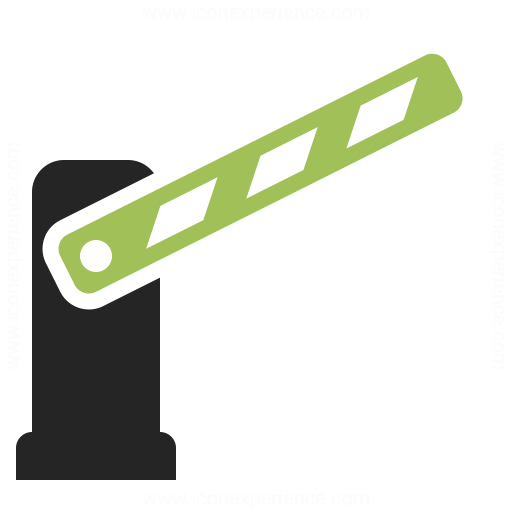 Barrier Open Icon Iconexperience