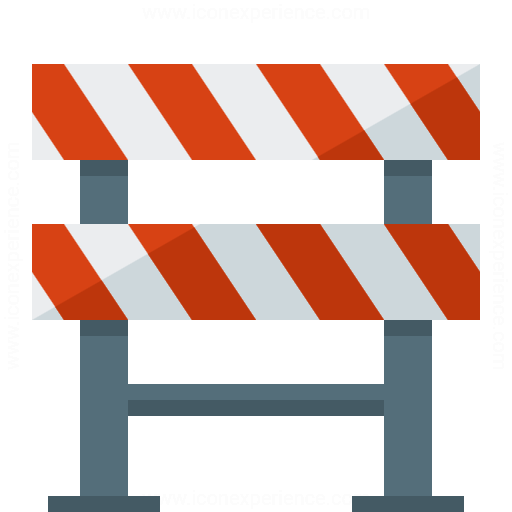 Iconexperience G Collection Construction Barrier Icon