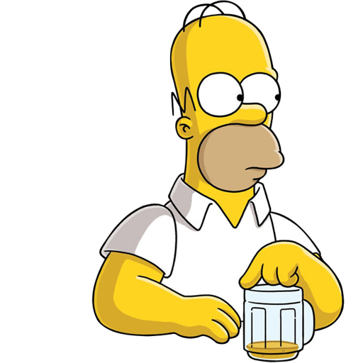 Beer, Homer, Simpson Icon