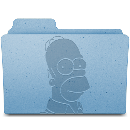 Homer Icon Leopard Extra Folder Iconset Gordon Irving