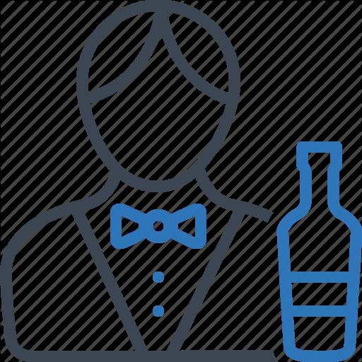 Barman, Bartender, Male, Waiter Icon