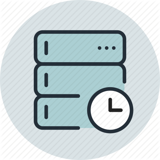 Backup, Base, Data, Database, Schedule, Server, Time Icon