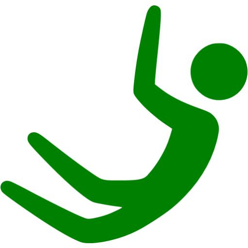 Green Base Jumping Icon