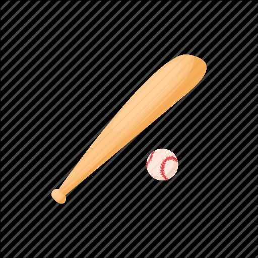 Ball, Baseball, Bat, Cartoon, Eague, Sport, Wood Icon