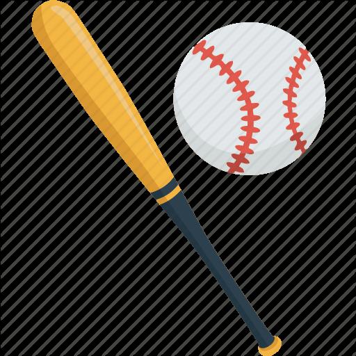 Ball, Baseball, Bat, Game, Match, Sport Icon