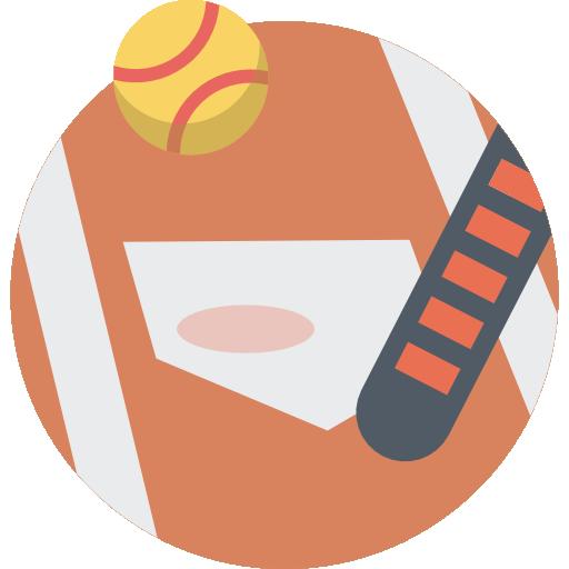 Sports, Team Sports, Baseball, Bat Icon