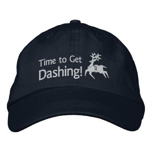 Runner's Time To Get Dashing Reindeer Icon Emoji Embroidered