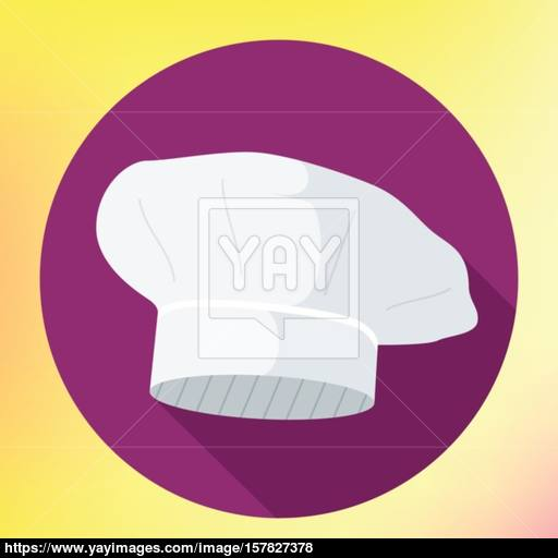 Chef Vector Hat Flat Icon Vector