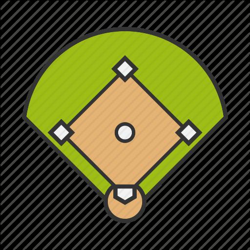 Arena, Baseball, Court, Diamond, Field, Sport, Stadium Icon