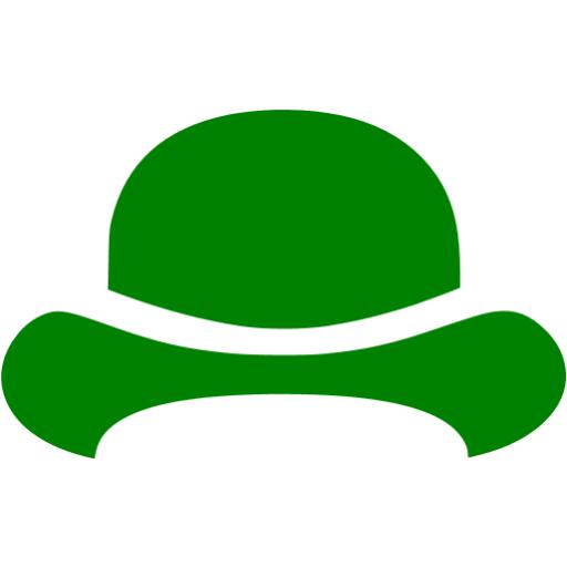 Green Bowler Hat Icon