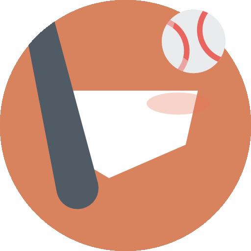 Baseball Icon Color Sport Elements Freepik