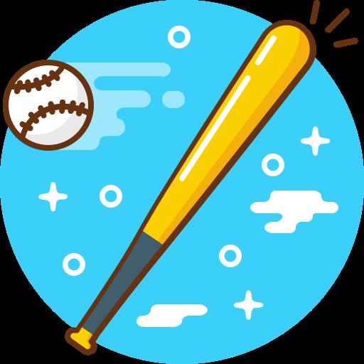 Game, Play, Ball, Sport, Bat, Baseball Icon