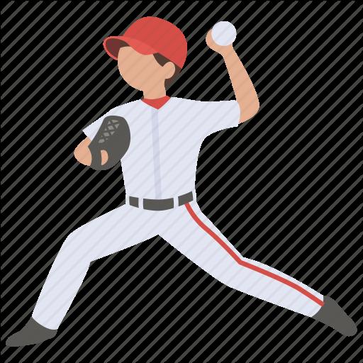 American, Ball, Baseball, Pitch, Pitcher, Player, Throw Icon