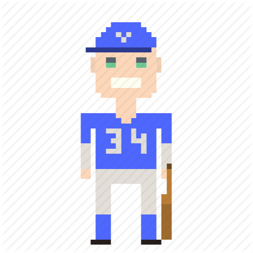 Avatar, Baseball, Baseball Player, Man, Person, Pixels, Sport Icon