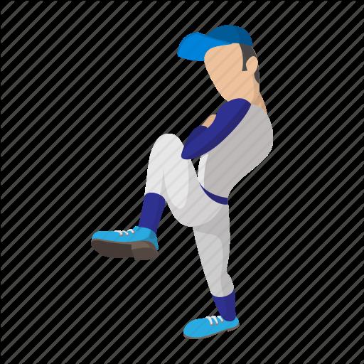 Ball, Baseball, Cartoon, Field, Pitch, Pitcher, Player Icon