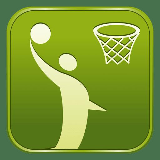 Basketball Square Icon