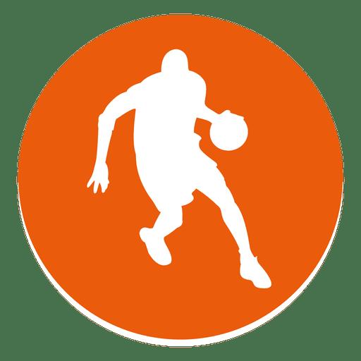 Basketball Player Circle Icon