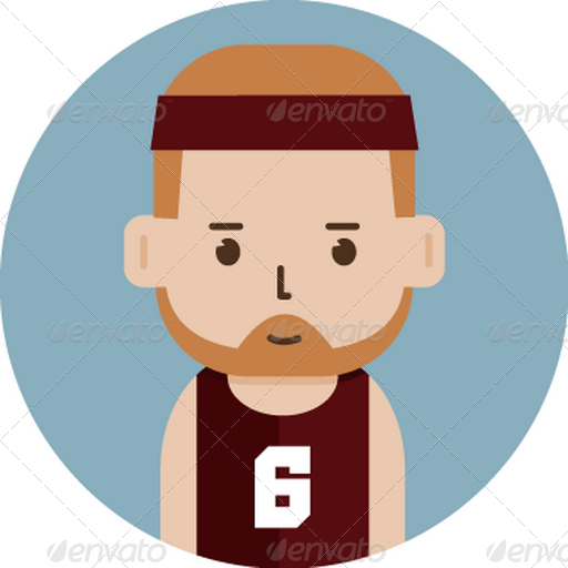 Set Of Basketball Player Avatar Flat Icons