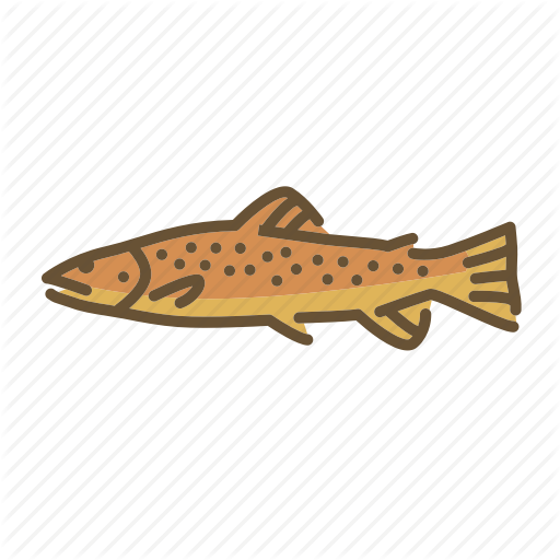 Brown Trout, Fish, Fishes, Fishing, Freshwater Creature, Trout Icon