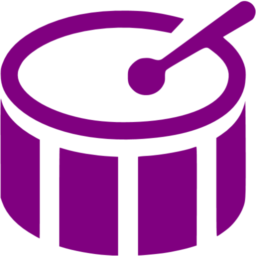 Purple Bass Drum Icon