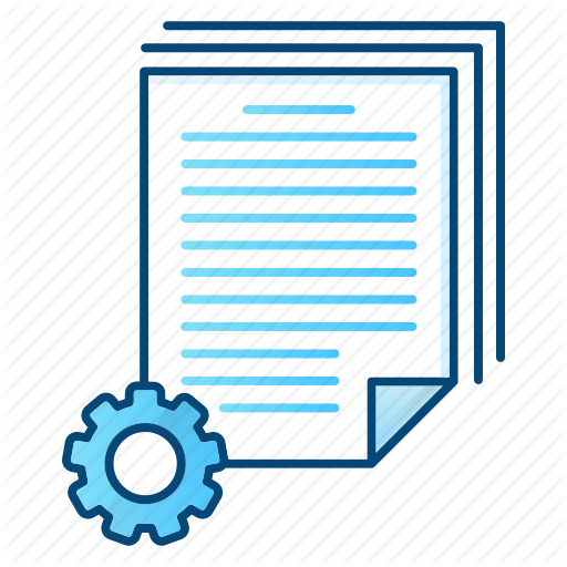 Batch, Document, Office, Processing, Settings Icon