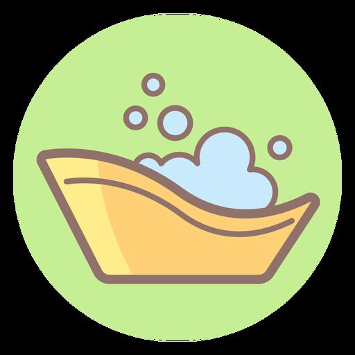 Baby Bath Tub Circle Icon