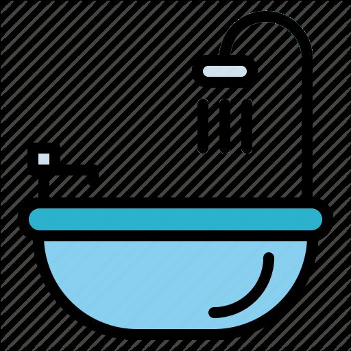 Bath, Bathroom, Bathtub, Clean, Washing Icon