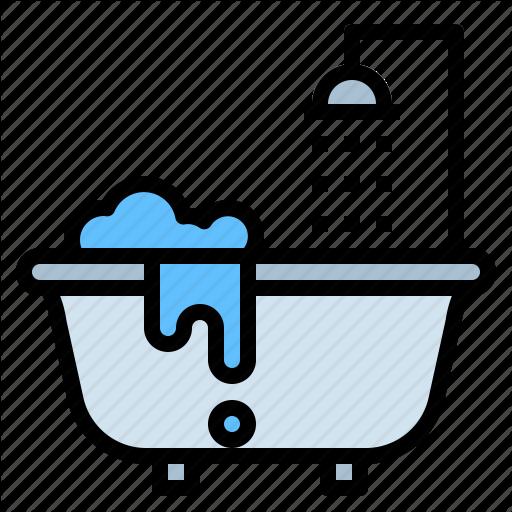 Bath, Bathroom, Bathtub, Curtains Icon