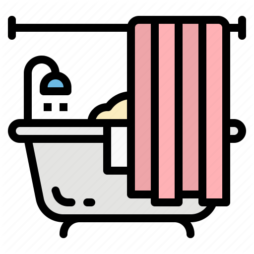 Bath, Bathroom, Bathtub, Shower, Water Icon