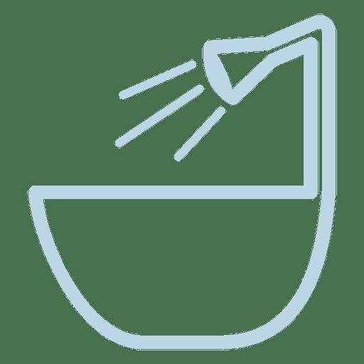 Bath Tub Line Icon
